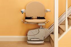 Ευθύγραμμες σκάλες με κάθισμα